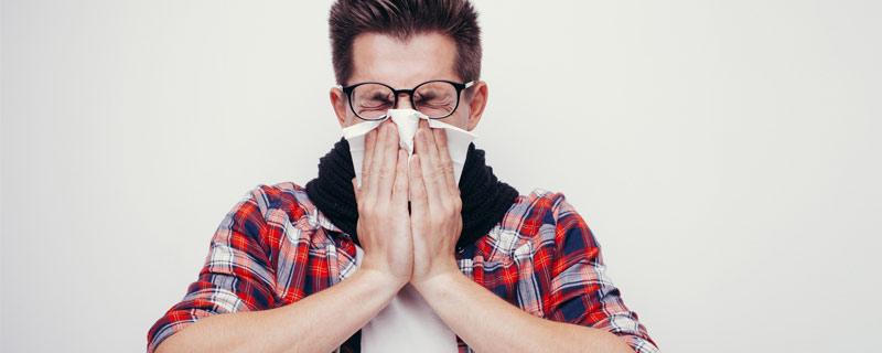man-sneezing