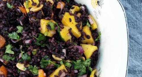 Forbidden Rice and Mango Saldad