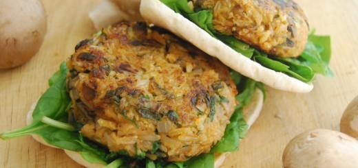 Savory Mushroom and Rice Burgers