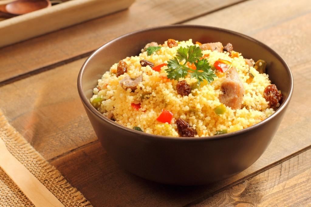 Couscous wiht lamb, raisins and vegetables