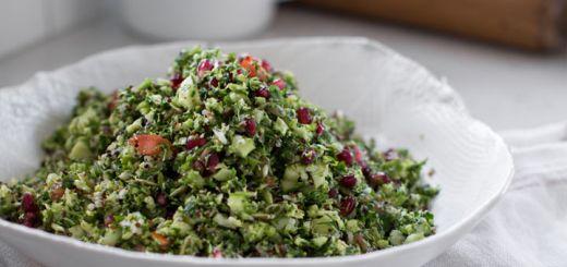 10-Minute Raw Vegan Broccoli Tabouli