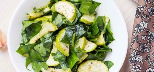 Raw Summer Squash Salad With Fresh Herbs